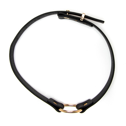 An overhead view of the Vixen choker. The choker's diameter is adjustable to accommodate different sizes.